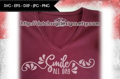 Text cutting file Smile, in Jpg Png SVG EPS DXF, for Cricut Silhouette