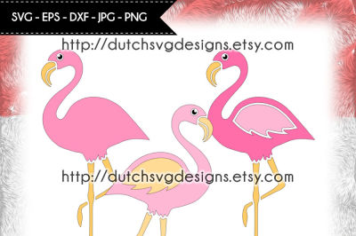 3 Flamingo cutting files, flamingo svg, flamingo cut file, diy