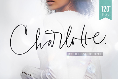 Charlotte Script with 120+ ligatures