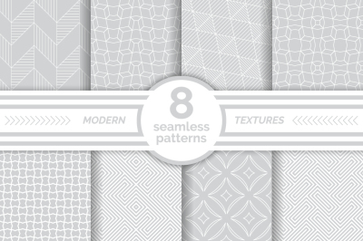 Modern seamless gray white patterns