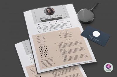 Modern resume template, cover letter template