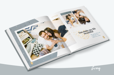 Grey - Photo Album Template