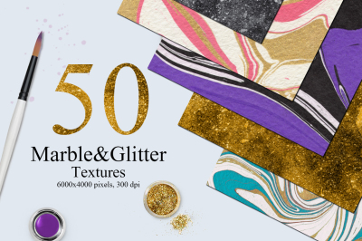 50 Marble and Glitter Textures