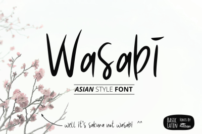 Wasabi Asian Style Fonts