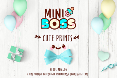 Collection of cute prints for boys