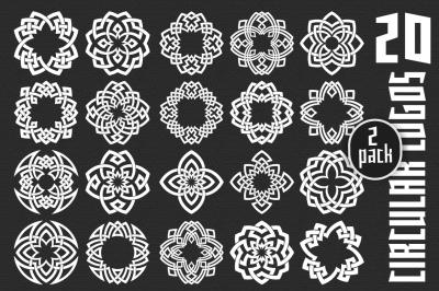 20 circular logo templates - Pack 2