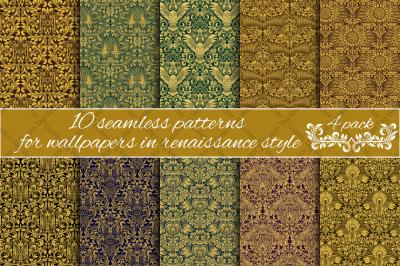 Renaissance seamless patterns Pack 4