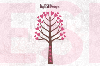 Valentines Heart Tree Design