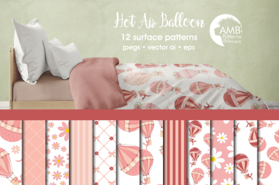 Hot air balloon pattern AMB-1232