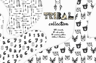 Tribal black and white collection