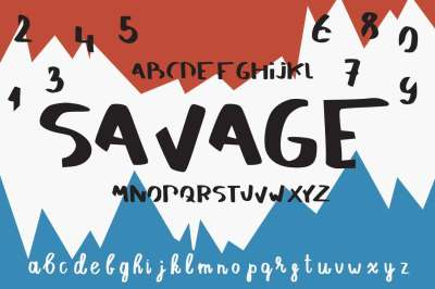 Savage - brush alphabet