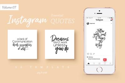 50 Instagram Essential Quotes Vol. 7