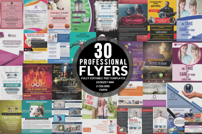 Bundle of 30 Flyers Template