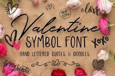 Valentine Symbols Font