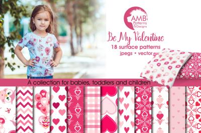 Be my Valentine Owls Pattern AMB-1166