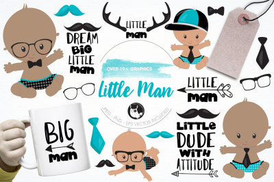 Little man graphics and illustrations