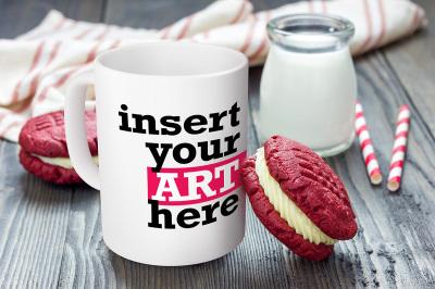 Mug Mockup white, macaron