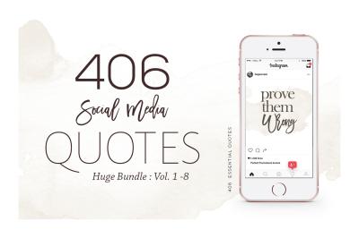 406 Instagram Essential Quotes Bundle