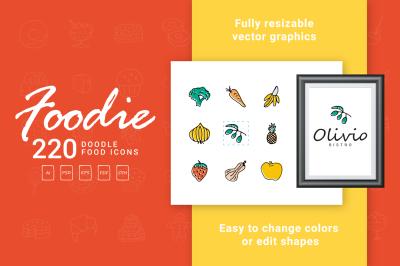 Foodie - Food Hand Drawn Icons
