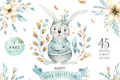 Easter cute bunny I