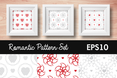 Romantic pattern set