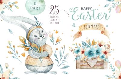 Easter cute bunny II