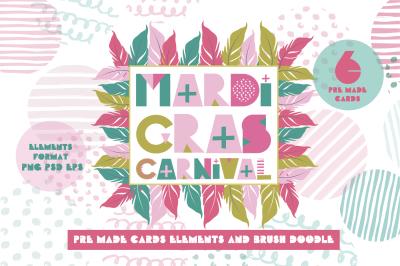 Mardi Gras carnival kit