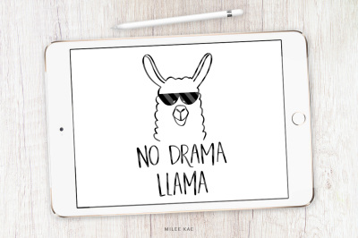 Llama quote SVG, cutting file and decal