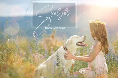 Sunlight Photo Overlays, Sunshine Overlays, Light Photo Overlays
