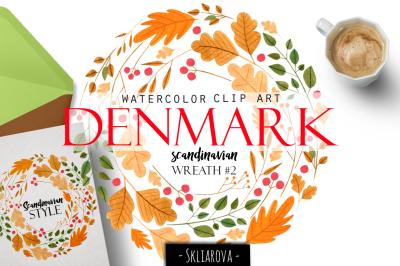 """Denmark"". Scandinavian wreath #2"