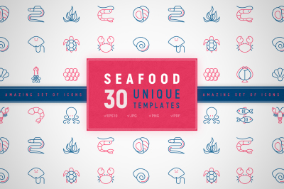 Seafood Icons Set | Concept