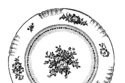 Vintage Dish Clip art Vintage Restaurant graphics