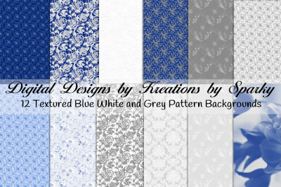 Blue White Grey Textured Background Papers