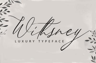 Withsney typeface (sweet luxury typeface)