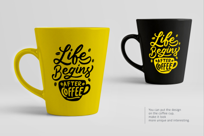 SVG Bundle - Set of Hand Lettering Coffee Quotes