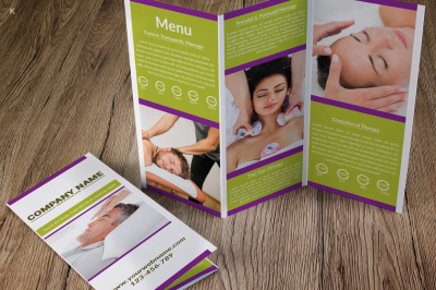 Massage Therapy Trifold Template