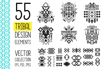 55 Tribal Design Elements Collection