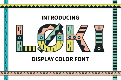 Loki Display Color Font