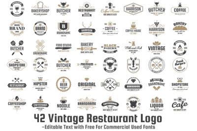 42 Vintage Restaurant Logo