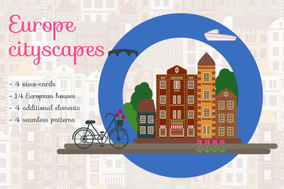 Europe Cityscape. Travel. View cards