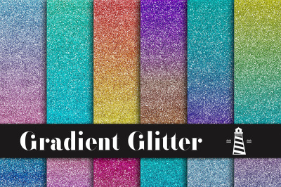 Gradient Glitter Digital Paper