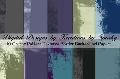 Grunge Border Textured Background Papers
