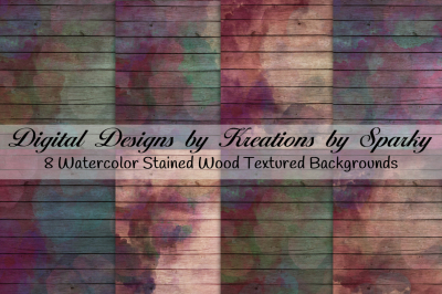 Watercolor Stained Wood Textured Background Papers