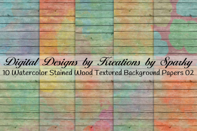 Watercolor Stained Wood Textured Background Papers 02