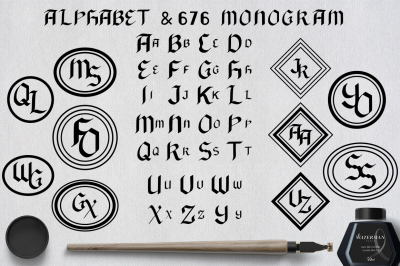 Black Alphabet & 676 Monogram