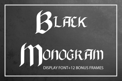 Black Monogram Creator with Frames