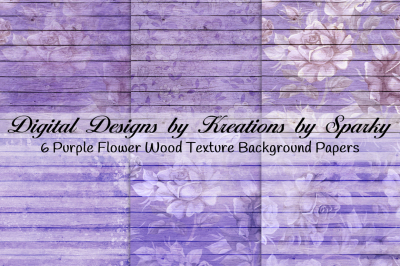 Purple Flower Wood Textured Background Papers