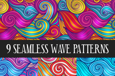 Seamless Wave Pattern Collection