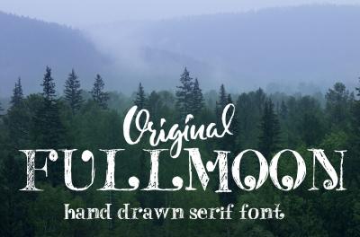 Fulmoon serif font