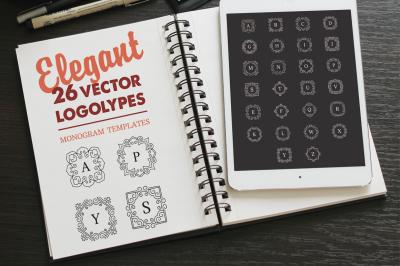 Vector Monogram LOGO. Logotype set.